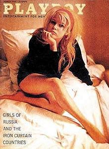 Olga Schoberová na obalu pánského časopisu Playboy.