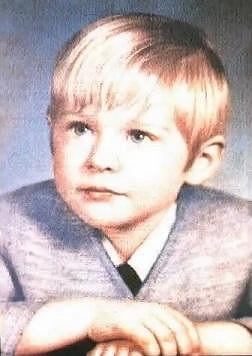 Kurt Cobain jako malý kluk.