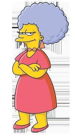Jitčin vlasový styling se nápadně podobá účesu Patty Bouvier ze seriálu Simpsonovi.