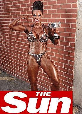 Jodie Marsh se účastnila i soutěže v bodybuildingu.