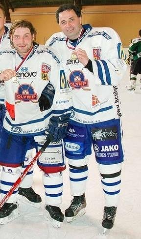 Jiří Herda s kamarádem Martinem Dejdarem.