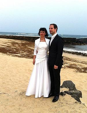 Svatba proběhla na ostrůvku v Africe.