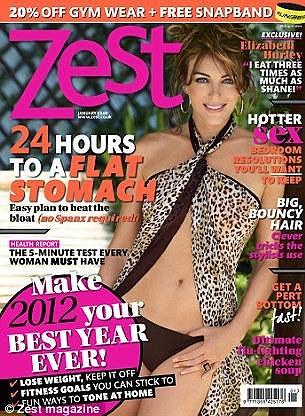 Hurley na obálce magazínu Zest.