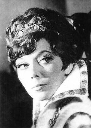Jirásková jako královna Kristina v roce 1966.
