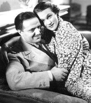 Hugo Haas s milenkou Adinou Mandlovou.