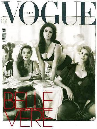 Robyn Lawley a další dvě kypré krásky zdobily obálku italského Vogue.