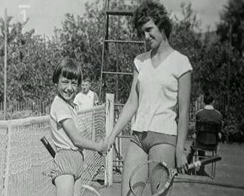 Martina Navrátilová jako malá tenistka.