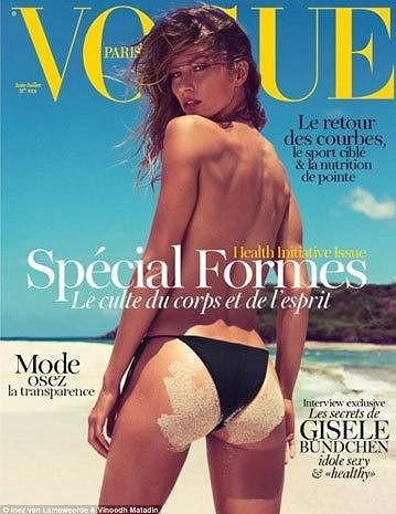 Gisele na obálce časopisu Vogue.