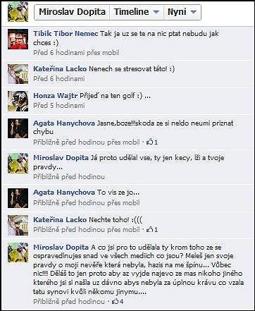 Mirek Dopita a Agáta Hanychová a jejich bouřlivá diskuse na Facebooku.