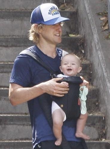 Owen Wilson a jeho syn Robert Ford Wilson.