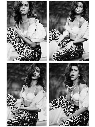 Smyslná Eva Mendes pro magazín Marie Claire.