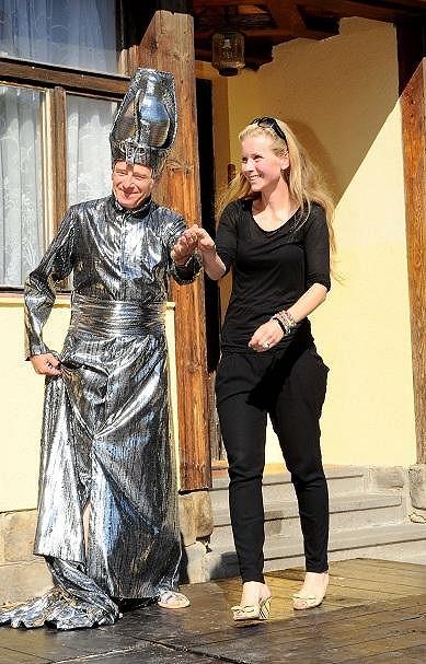 Michaela se objevila na představení kostýmů muzikálu Aida, které navrhla.