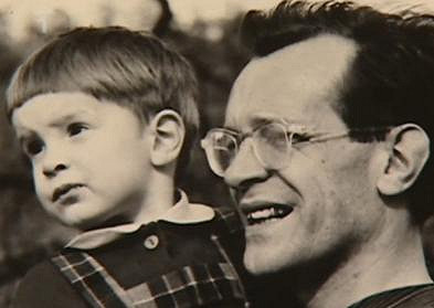 Miroslav Etzler se svým tatínkem.