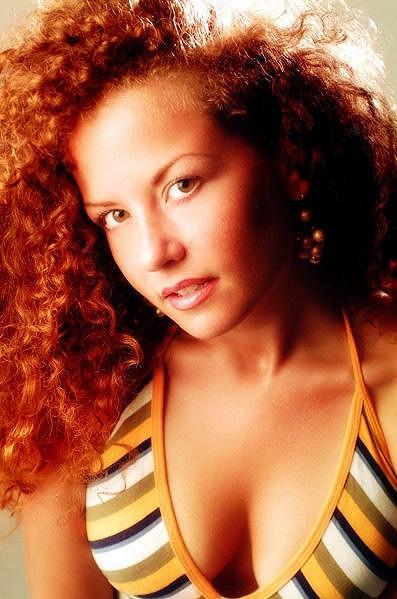 Italská zpěvačka Daniela D'Ercole.