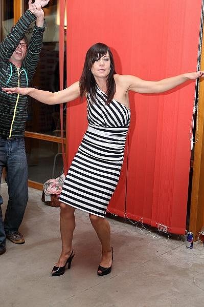 Šárka Ullrichová předváděla taneční kreace.