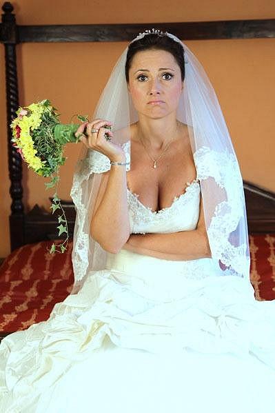 Zuzana Mauréry se nechala zvěčnit pro svatební salon.