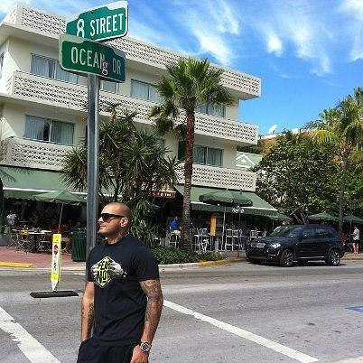 Rytmus se na Facebooku už pochlubil fotkou z Miami.