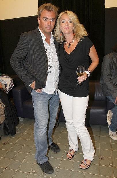Lucie se svým partnerem Tomášem Matonohou