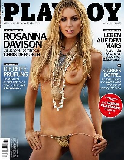 Rosanna Davison na obálce německého Playboye.