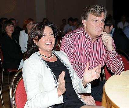 Marie Rottrová s partnerem Milanem Říhou.