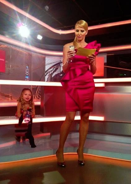 Ivana Gottová a její dcera Nelly Sofie ve studiu VIP zpráv.