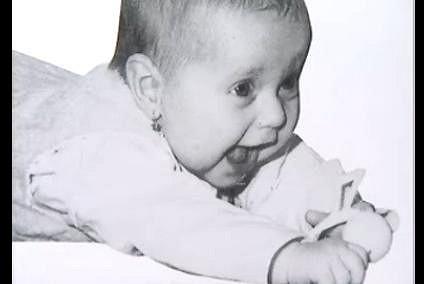 Tereza jako usměvavé miminko.