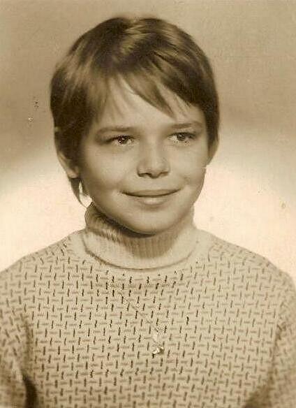 Dagmar Havlová jako devítiletá holčička.