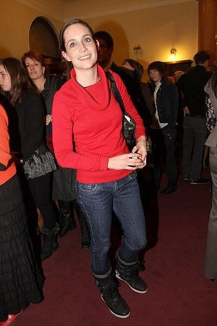 Hana Vagnerová na premiéře.