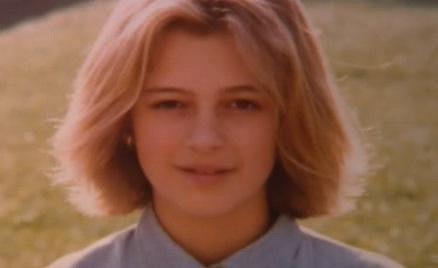 Ivana Jirešová jako roztomilá holčička.