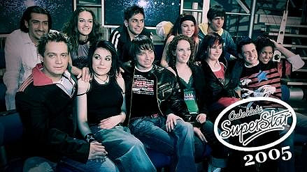 S kolegy ze SuperStar v roce 2005.