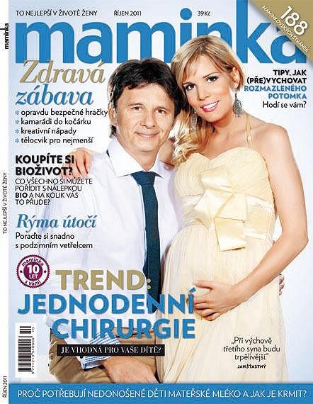Jan Šťastný s manželkou Bárou Petrovou.
