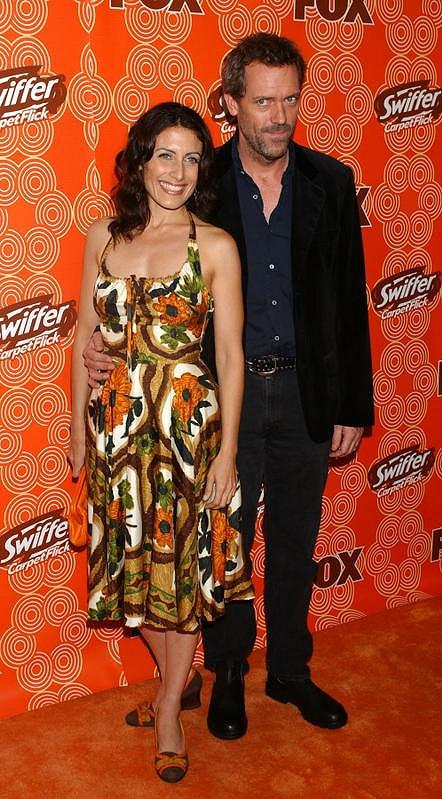 Hugh Laurie a Lisa Edelstein na akci televize Fox.