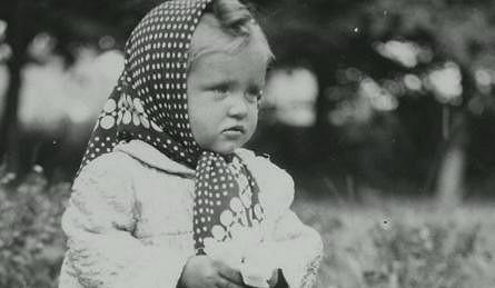 Valérie Čižmárová jako malá dívenka.