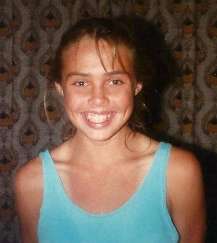 Takhle vypadala Rene v patnácti letech.