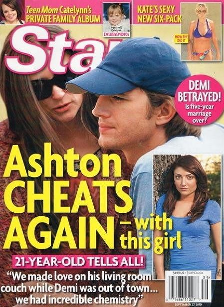 Nevěra Ashtona Kutchera plnila stránky bulváru.
