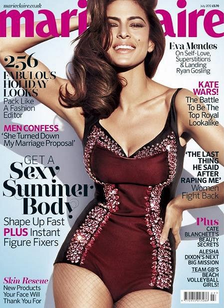 Eva na obálce červencového vydání Marie Claire.