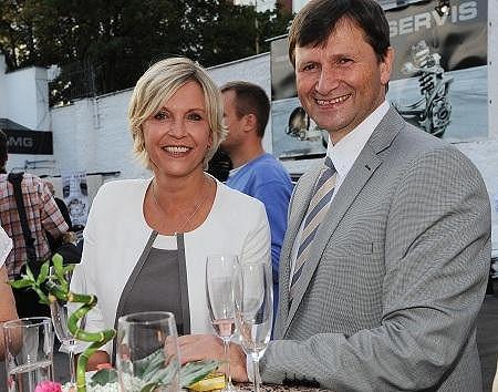 Jan Hrušínský s manželkou Miluší Šplechtovou.