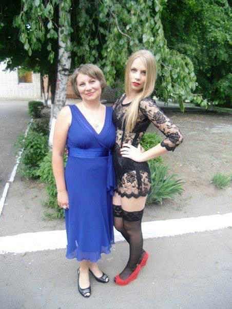 Studentka Nasťa s maminkou Olenou.