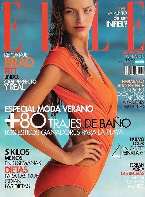 Michaela Kociánová na obálce časopisu Elle.