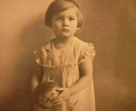 Míla Myslíková jako malá holčička.