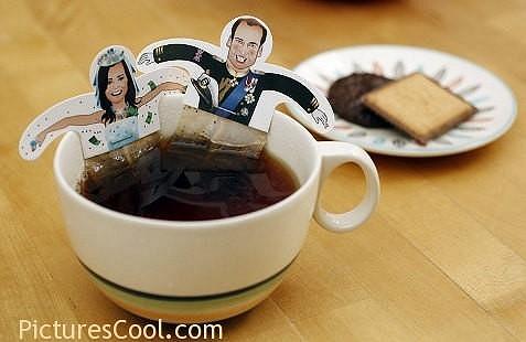 William s Kate na čajových sáčcích.