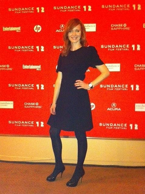 Aňa na festivalu Sundance oblečená od hlavy až po paty módním domem Prada.