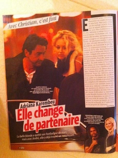 Francouzský magazín Voici topmodelku před nedávnem načapal na romantické večeři s podnikatelem Andrém