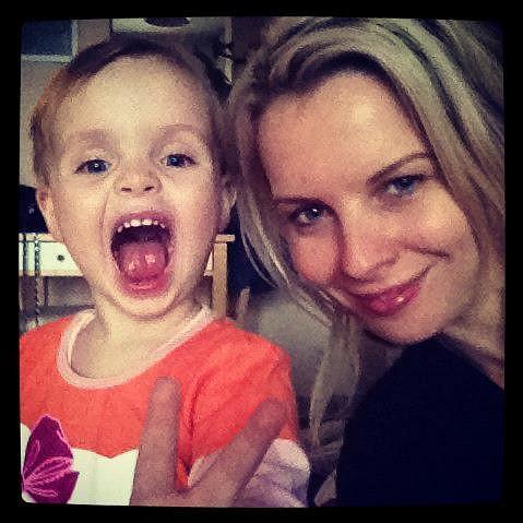 Kateřina Kristelová s roztomilou dcerou Claudií.