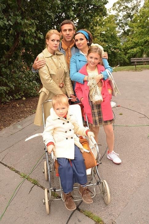Rodina Dvořákova ještě v letech šedesátých.