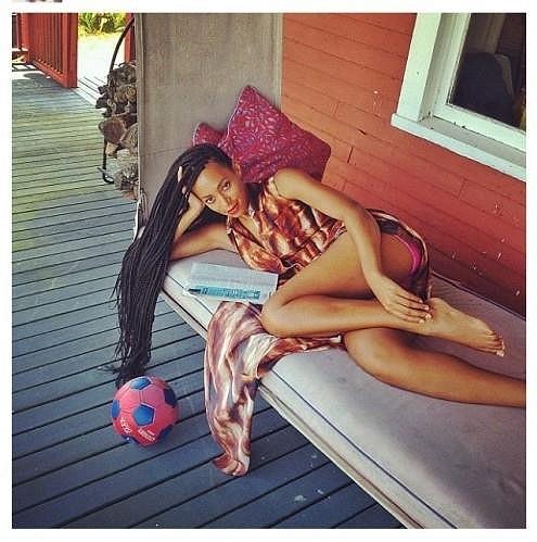 Solange Knowles s novým účesem.