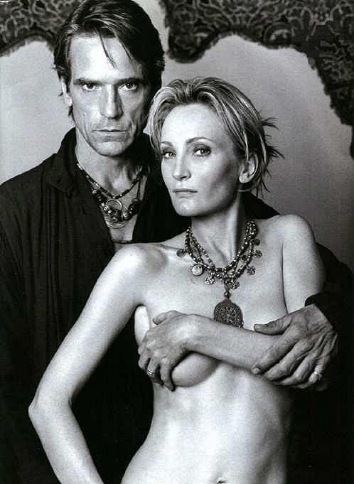 Odhalená Patricia Kaas s anglickým hercem Jeremy Ironsem.