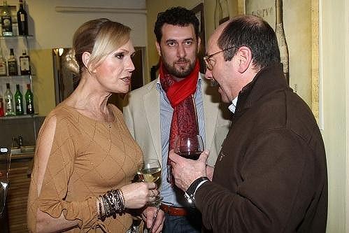 Helena s Domenicem Martuccim a Jadranem Šetlíkem.