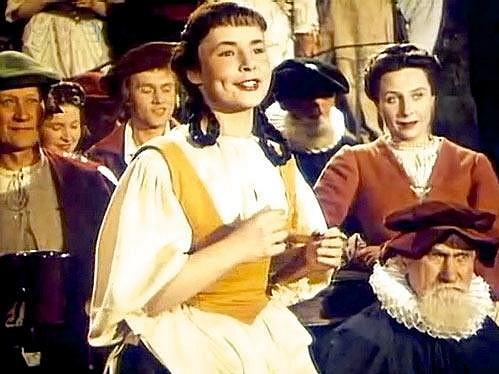 Kvapilová ve filmu Císařův pekař - Pekařův císař (1951).