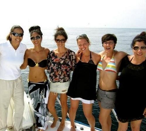 Nicole s přáteli na dovolené v Mexiku.